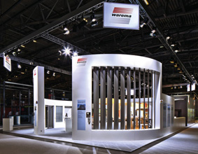 Large louvre blind system by Warema
