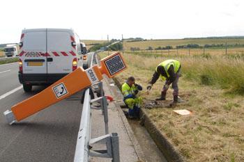 Maintenance work on the motorway