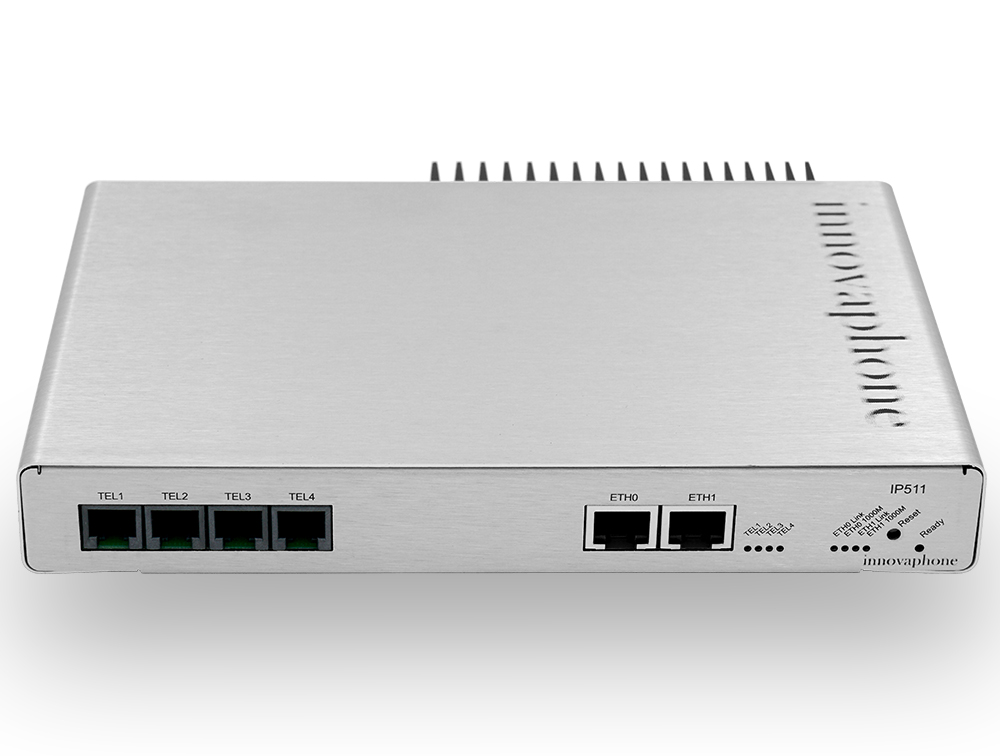 innovaphone IP511: VoIP gateway with 4 analog interfaces (FXS), front view